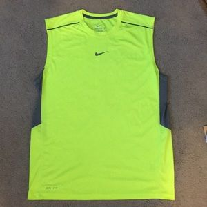 Mens Nike Volt Dri-Fit Sleeveless Running Shirt Lg